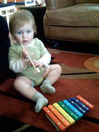 Baby making music