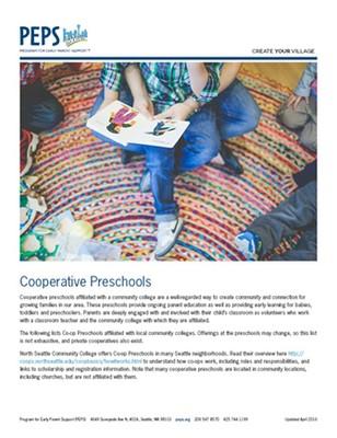 Co-op Preschool Flyer