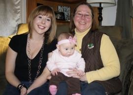 Grandma, mom and daughter