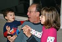 Bernie with grandkids