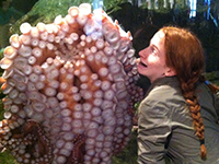 Granddaughter at the Seattle Aquarium