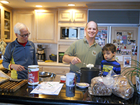 Terrill with his son Eric and grandson Eric Jr.