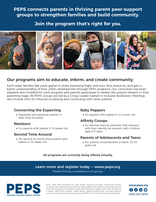 General flyer for PEPS Programs