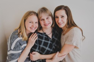 Deb with her daughters
