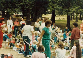 1984 PEPS Groups at park