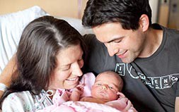 New parents at the hospital