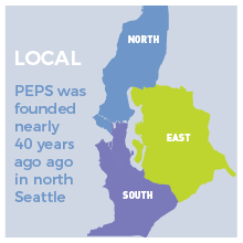 PEPS was founded 35 years ago in north Seattle