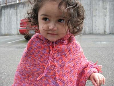 Toddler in Poncho