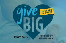 GiveBIG homepage tile more blue