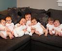 Newborn group on the sofa