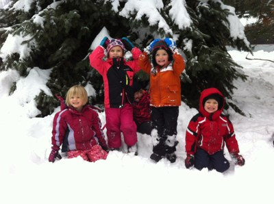 PEPS big kids in the snow