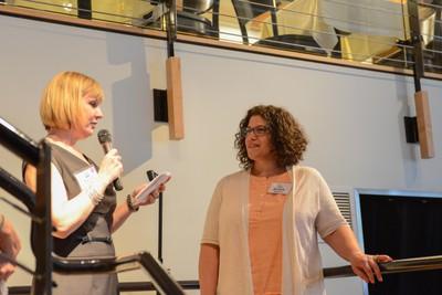 Jill receiving her award