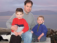 Chris with his sons 2006